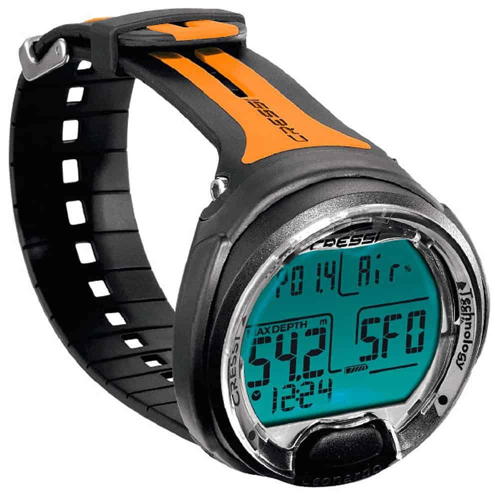 Cressi Leonardo Dive Computer - Black/Orange