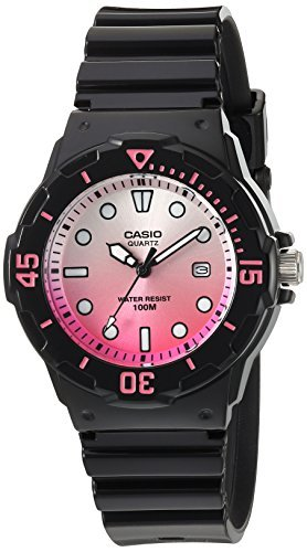 Casio Womens Dive Series Quartz Resin Casual Watch Black