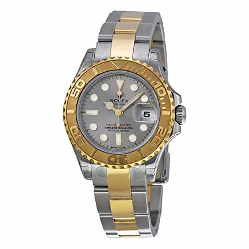 Rolex Yacht Master Grey Dial 18kt Yellow Gold 29 MM Ladies Watch 169623GYSO
