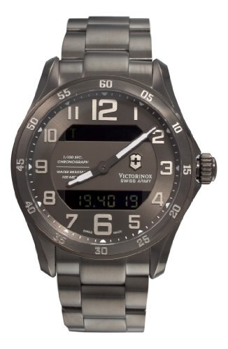 Victorinox Swiss Army Men's 241300 Chrono Classic XLS MT Quartz Gunmetal watch