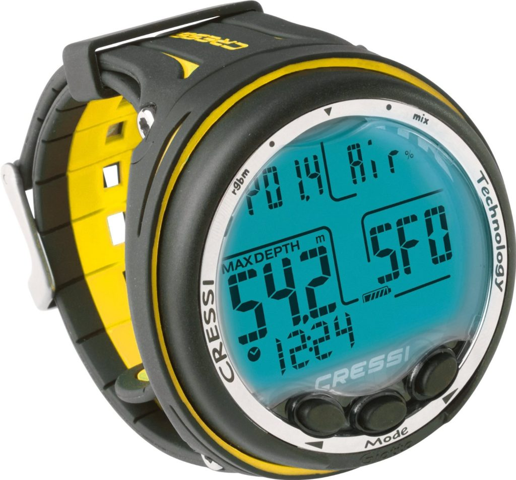 Giotto Diving Computer by Cressi in black and yellow