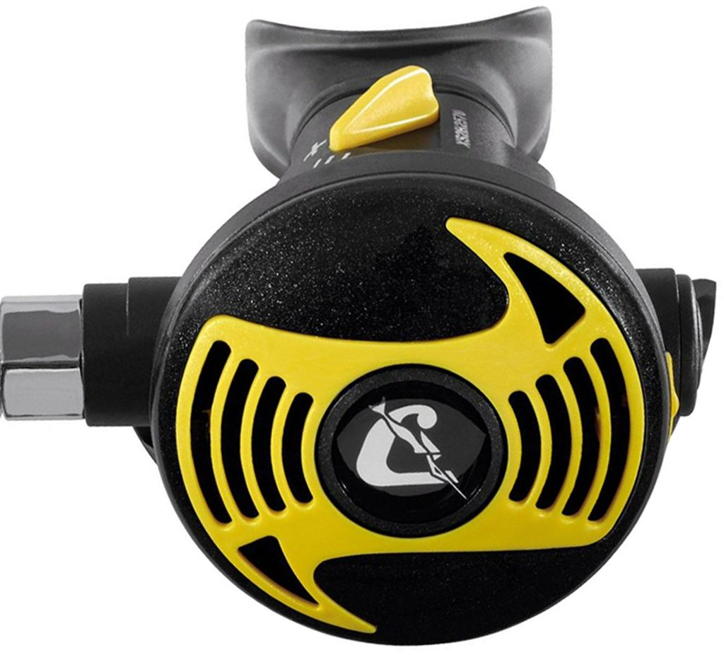 Cressi Octopus XS Regulator with bright yellow color ing