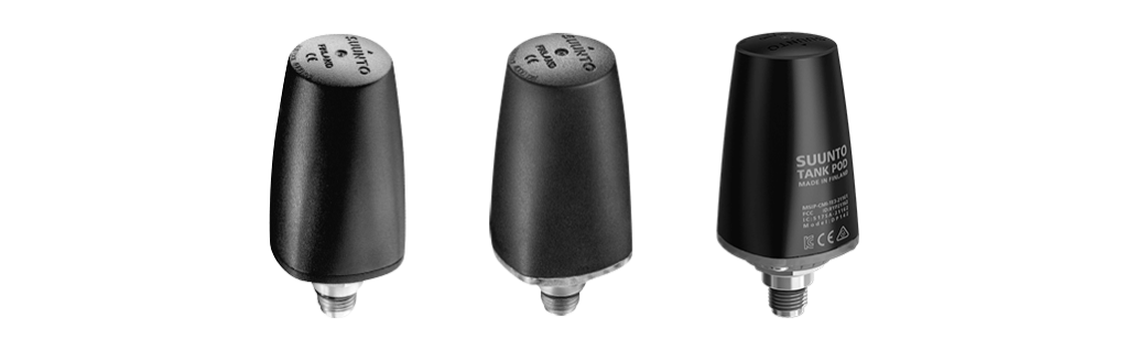 Suunto Wireless Transmitters and Tank PODs Recall. Image shows the three devices in question.