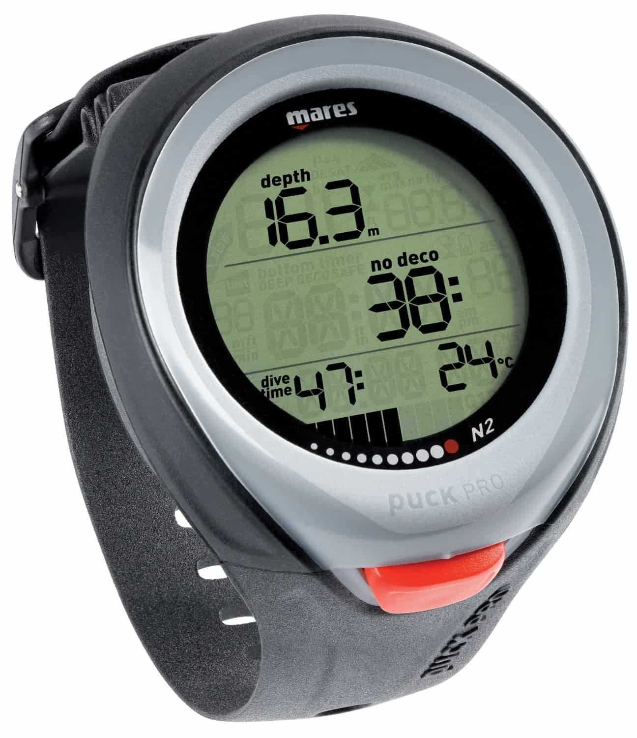 Puck Pro from Mares in black color
