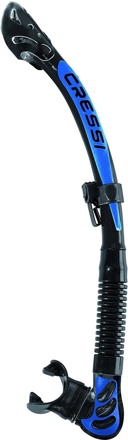 Cressi Alpha Ultra Dry Snorkel for Diving and Snorkeling