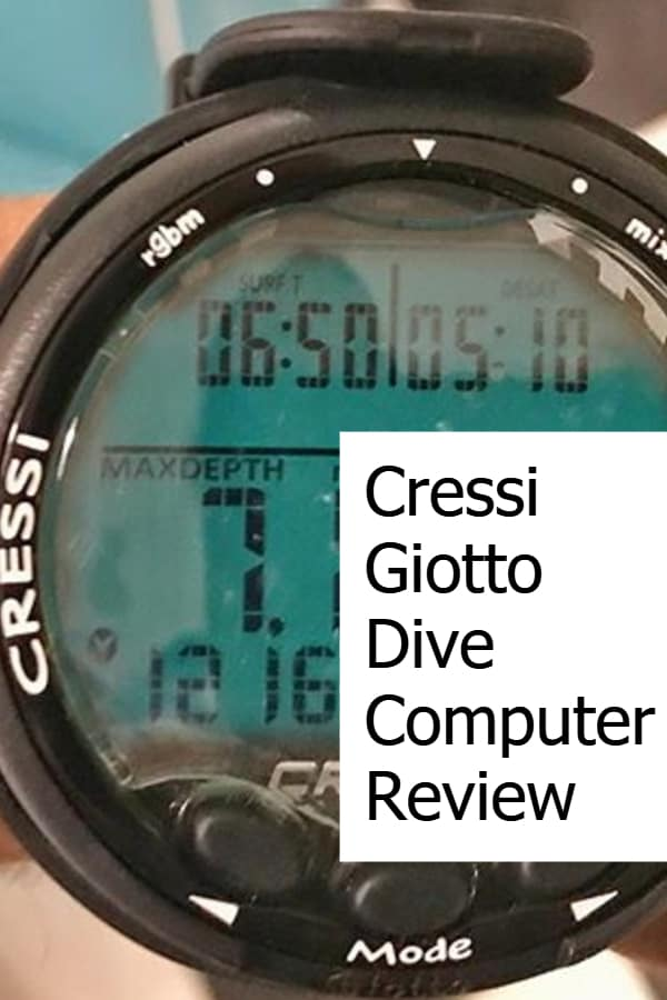 In-Depth review of the Cressi Giotto Wrist Dive Computer