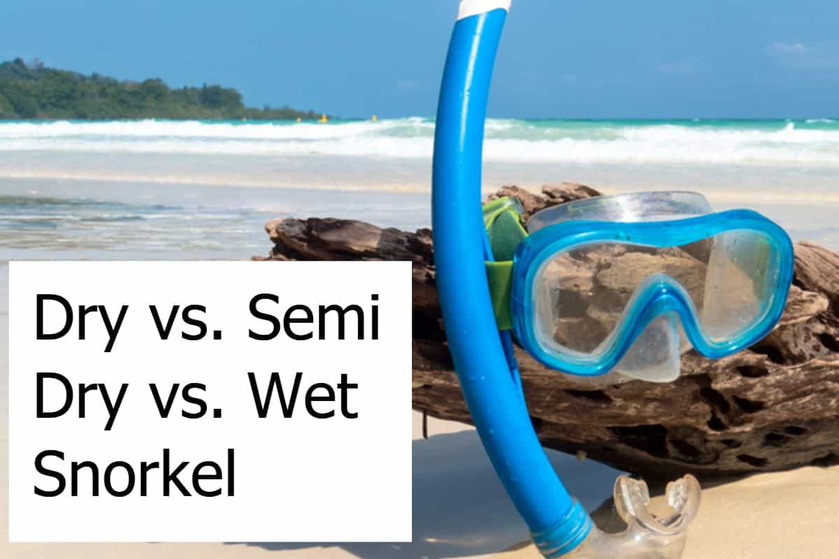 Dry vs. Semi Dry vs. Wet Snorkel