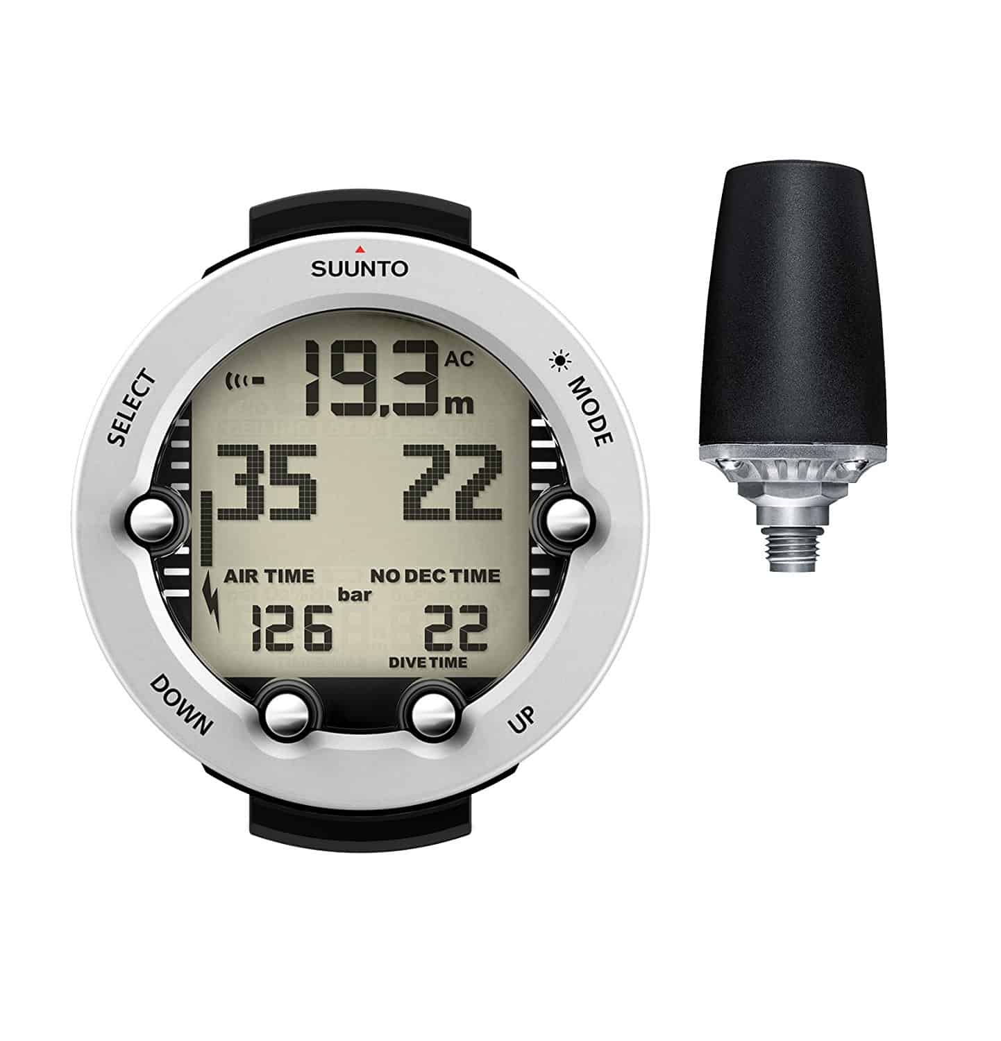 Suunto Vyper Novo Wrist Dive Computer with Transmitter White