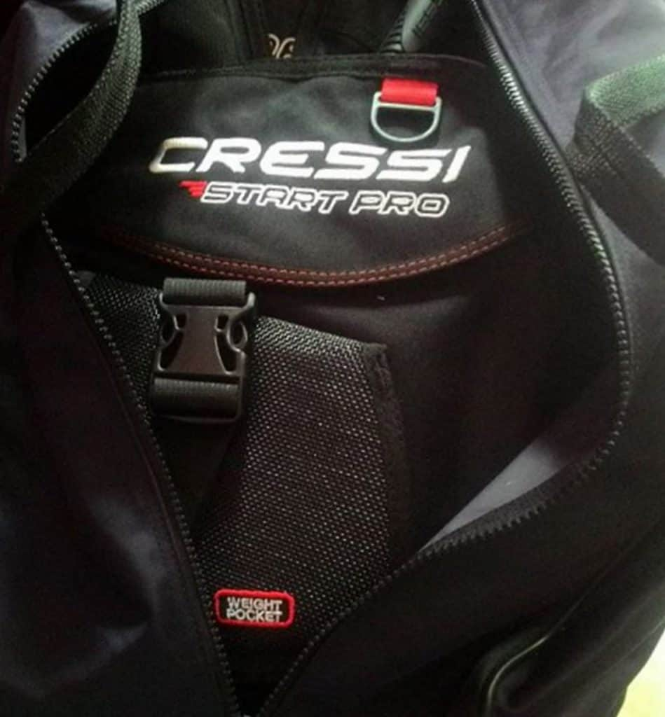 Start Pro 2.0 BC from Cressi in bag