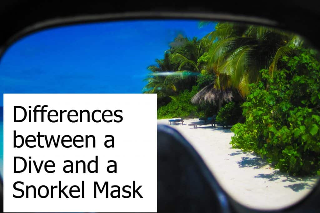 What makes a snorkeling mask different from a scuba diving mask?