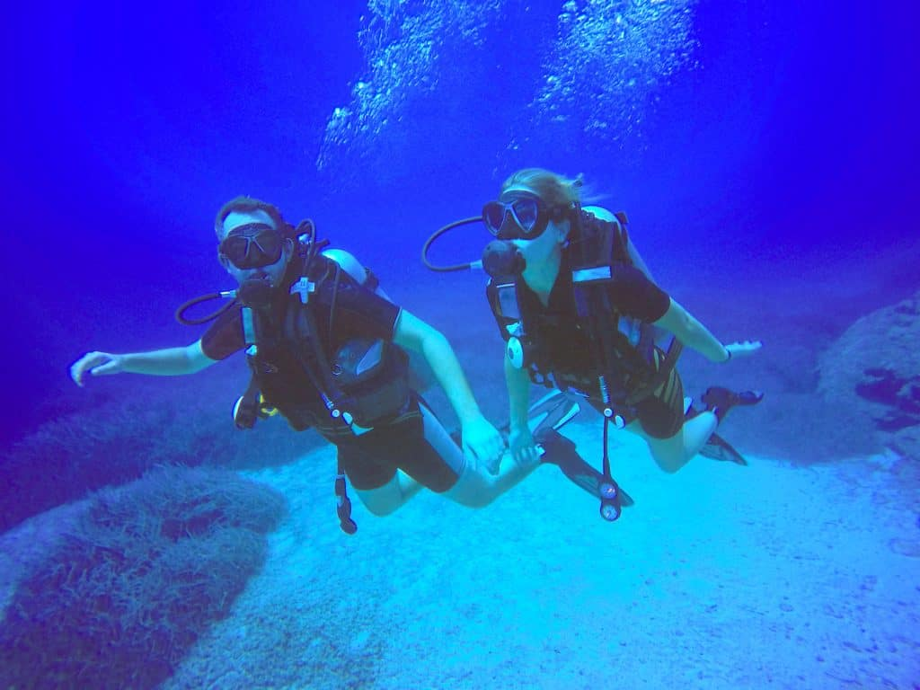 Diving with a buddy