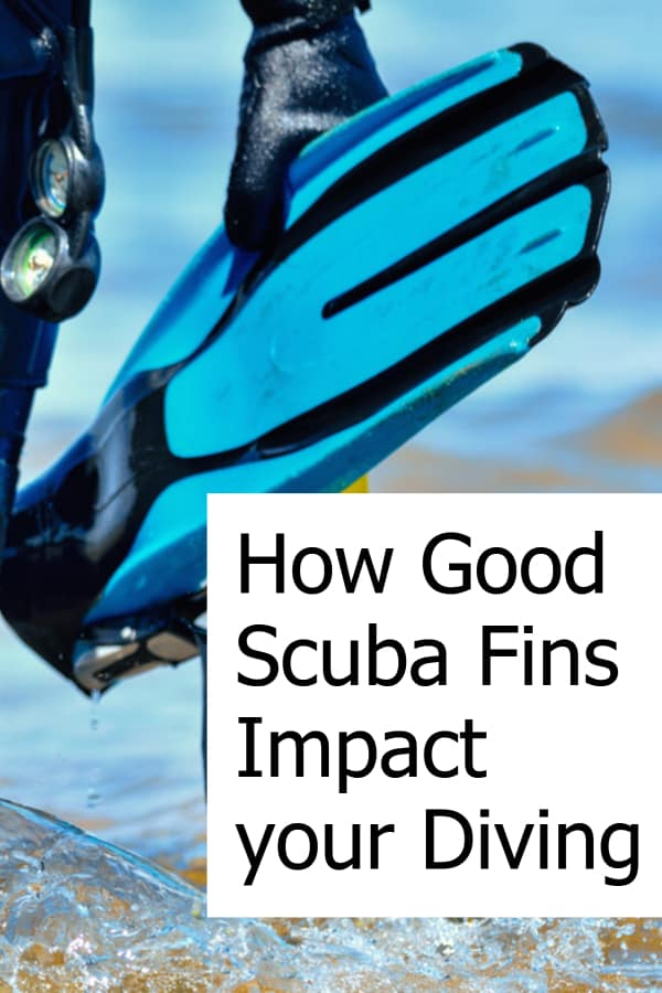 What impact do good scuba fins have on your diving?