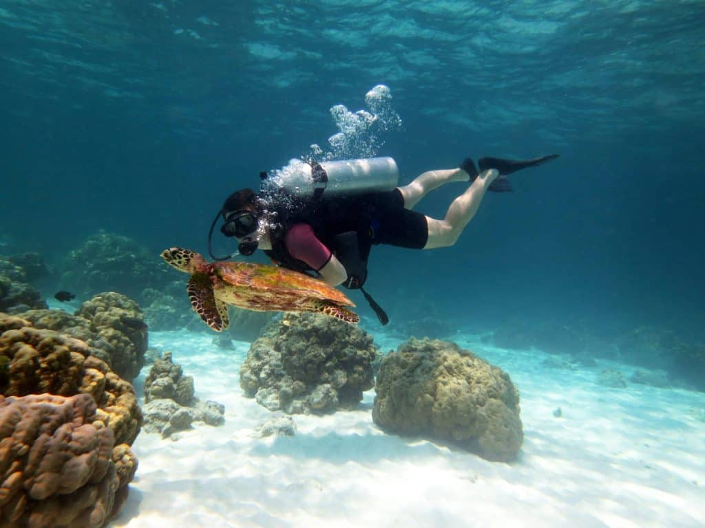 Being able to swim when scuba diving makes it more fun and safer