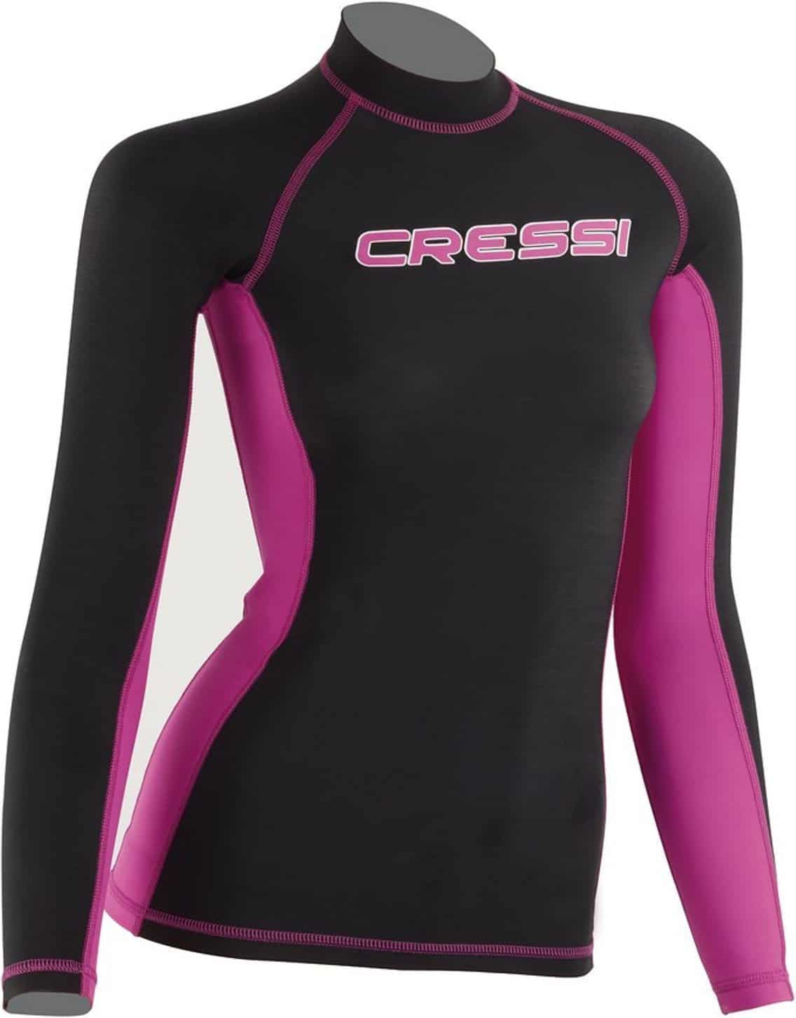 Cressi Women's Long Sleeve Rash Guard For Swimming, Surfing, Diving