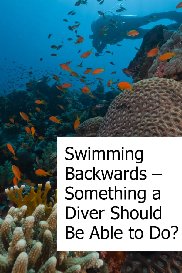 Is being able to swim backwards a skill you have to master as a scuba diver?