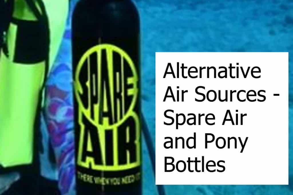 Divers need an emergency air suppy. SpareAir vs Pony Bottles - Which is the better alternative air source for scuba diving when you cannot use the octopus of your buddy?
