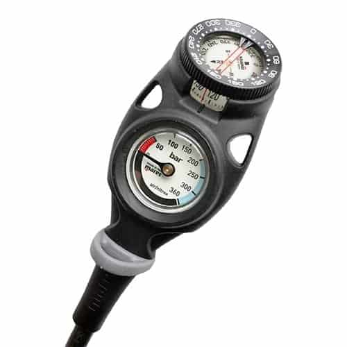 Mares Mission 2C Gauge with compass and pressure gauge