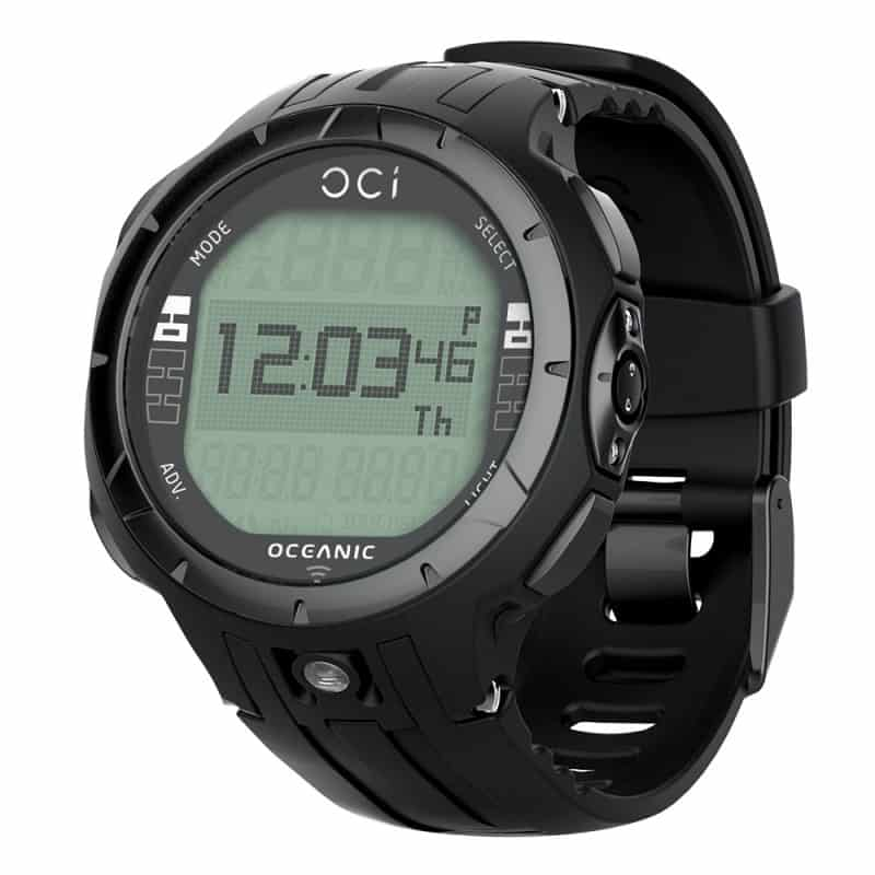 Oceanic OCi Wrist Scuba computer in Blackout color (all black)