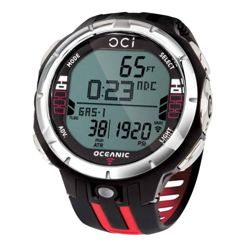 Red version of the Oceanic OCi wrist computer