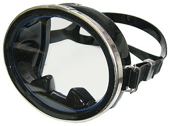 Oval Dive Mask with Nose Access for Equalizing