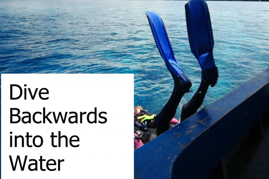 Why do Scuba Divers Dive Backwards into the Water