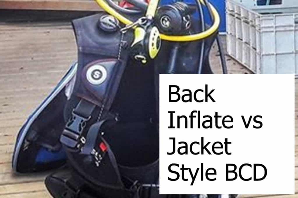 What are the differences between a jacket style and back inflate BCD?