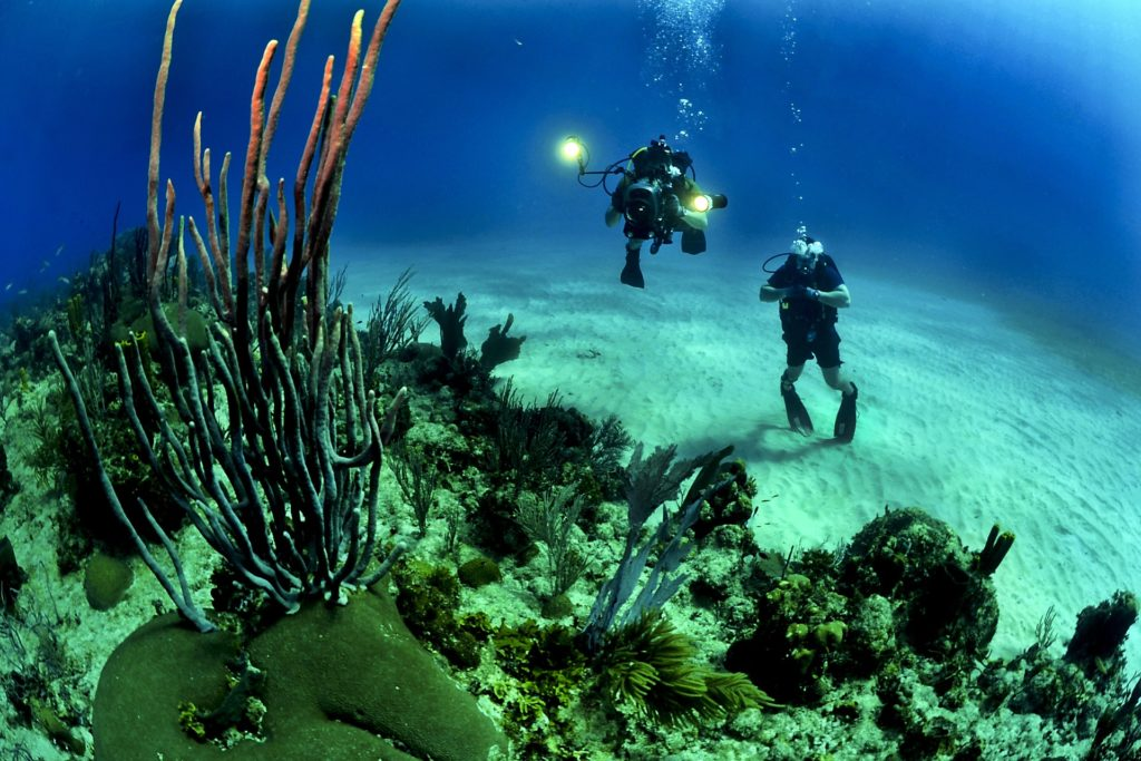 Two divers under water - Decompression Sickness