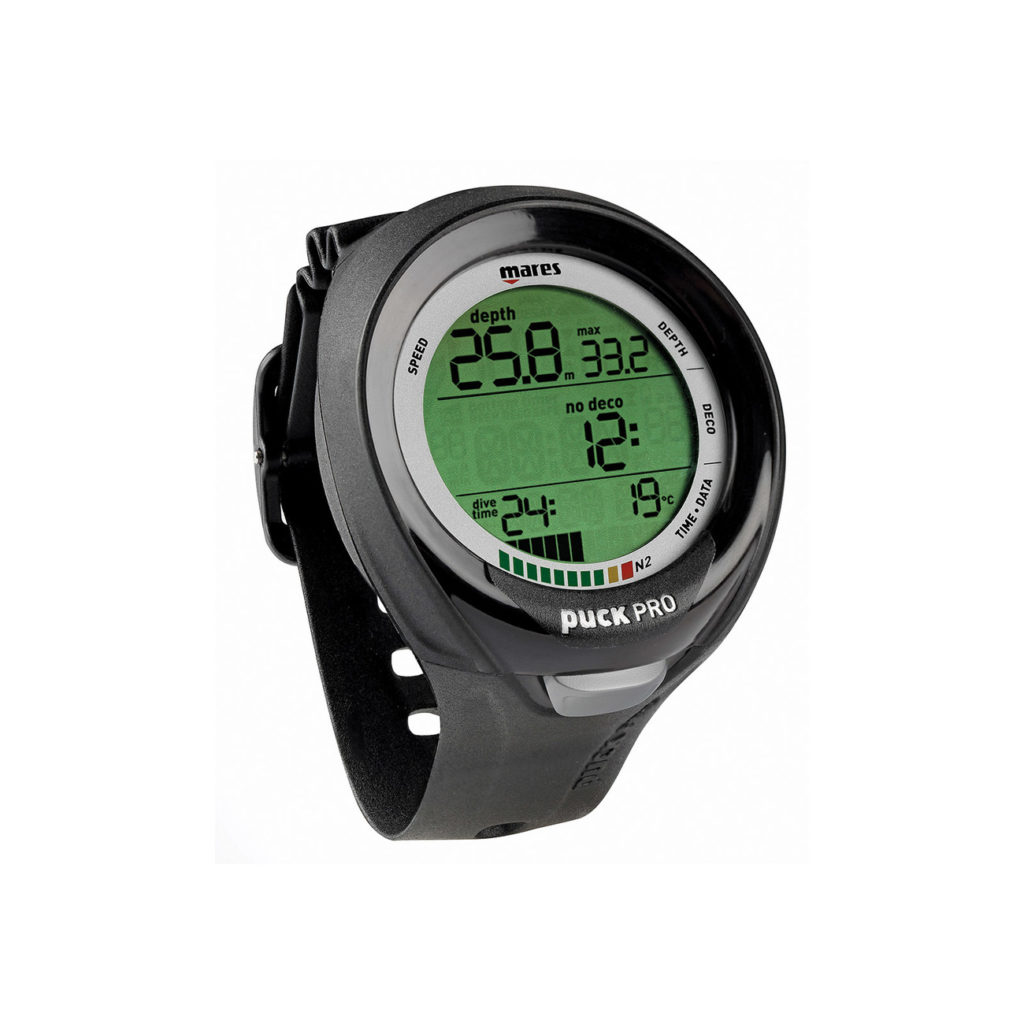 Mares Puck Pro Plus Scuba in black