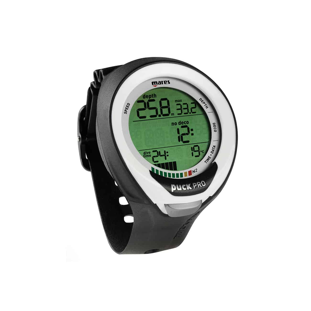 Mares Puck Pro Plus Scuba Diving Computer with white bezel