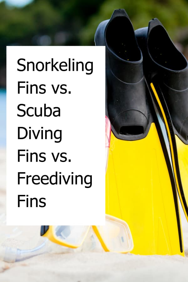 What is the difference between snorkeling, scuba diving and freediving fins?