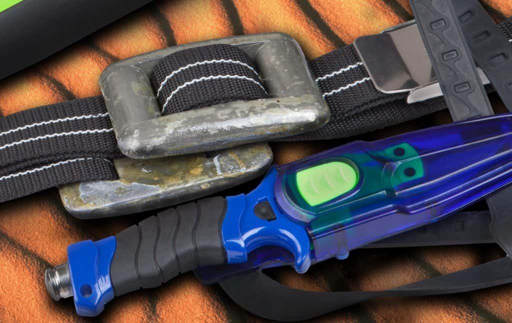 Blue Diving Knife