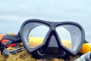 Dive Mask with corrective lenses