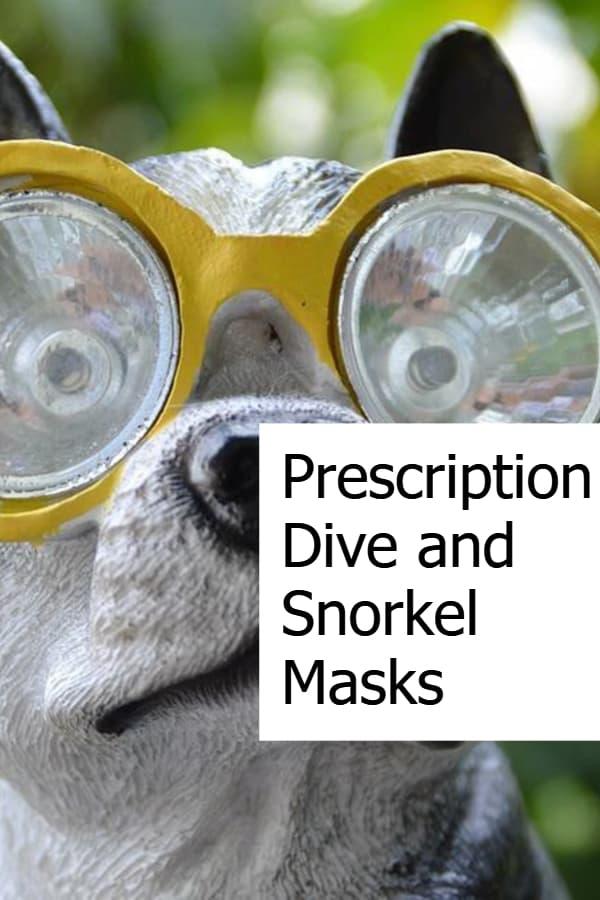 Prescription snorkel masks and corrective dive masks