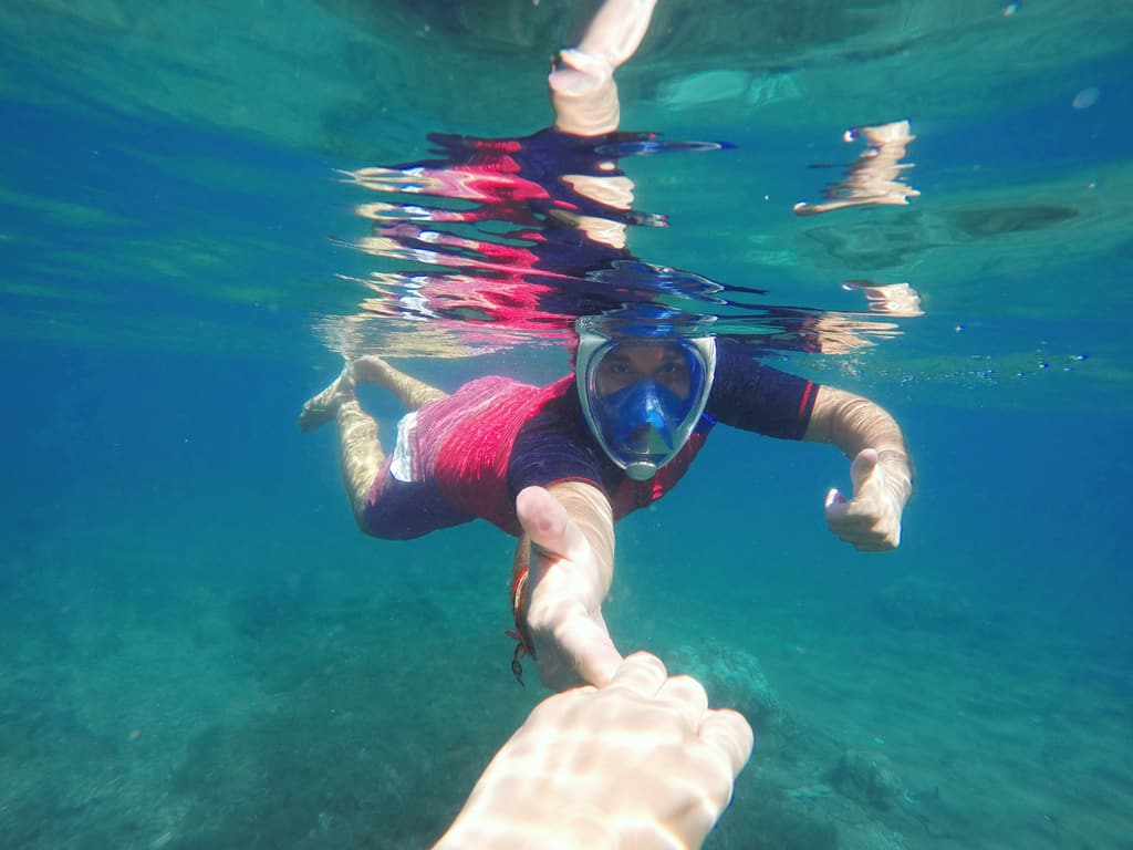 Snorkeling Goggles Covering Whole Face