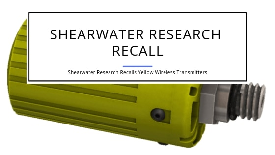 Shearwater Resarch Recall of Yellow Transmitters