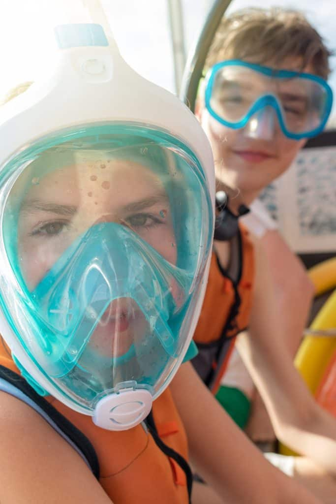 Snorkel Mask covering the whole face for Children