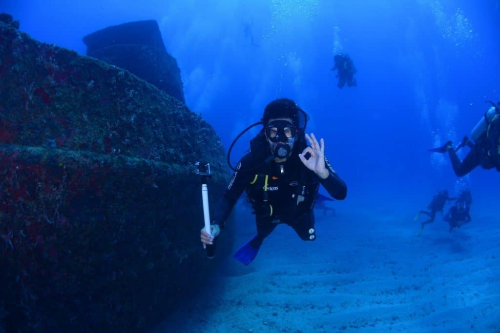 Fully equipped scuba diver