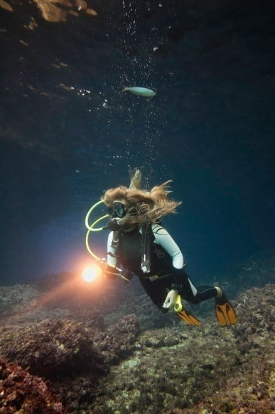 Dive with a torch