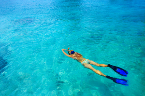 Long Fins with open heel or full foot for snorkeling
