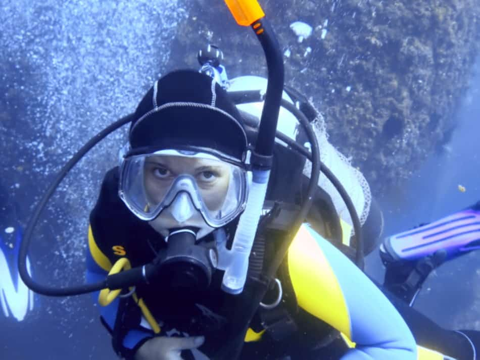 Diving with a snorkel