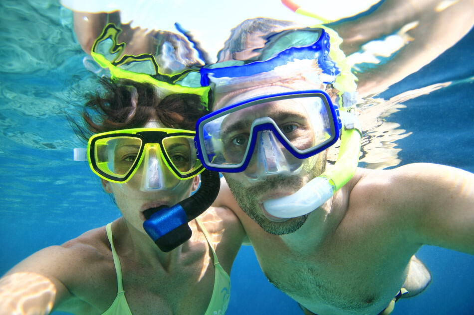 Snorkeling with a Float Belt