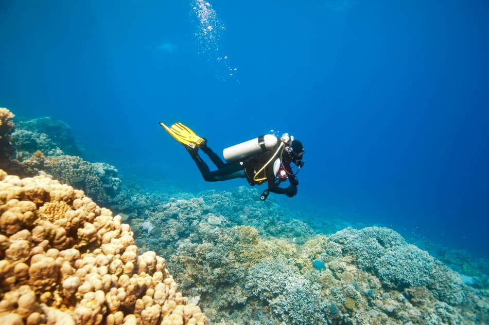 Avoid strong currents when diving