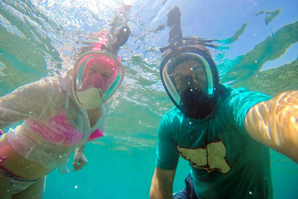 Snorkel safely with a full face snorkel mask