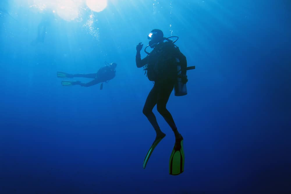 Backmount Scuba Diving