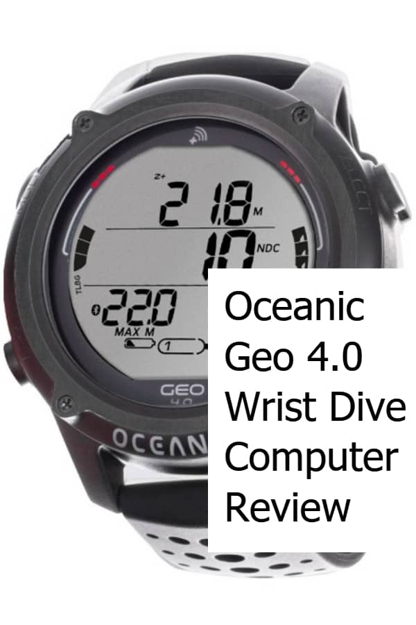 Oceanic Geo 4 Wrist Dive Computer Review Pin