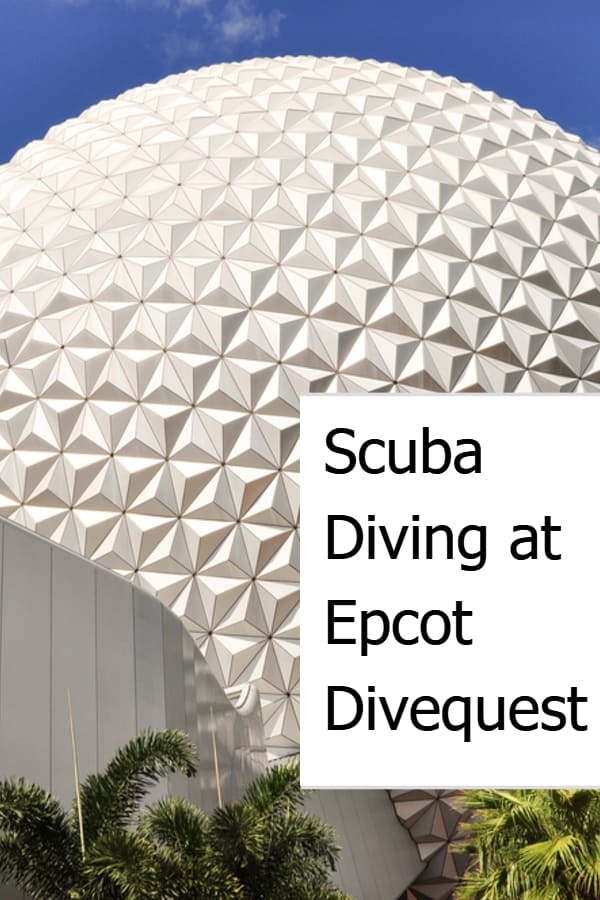 Scuba Diving at Epcot Divequest Pin
