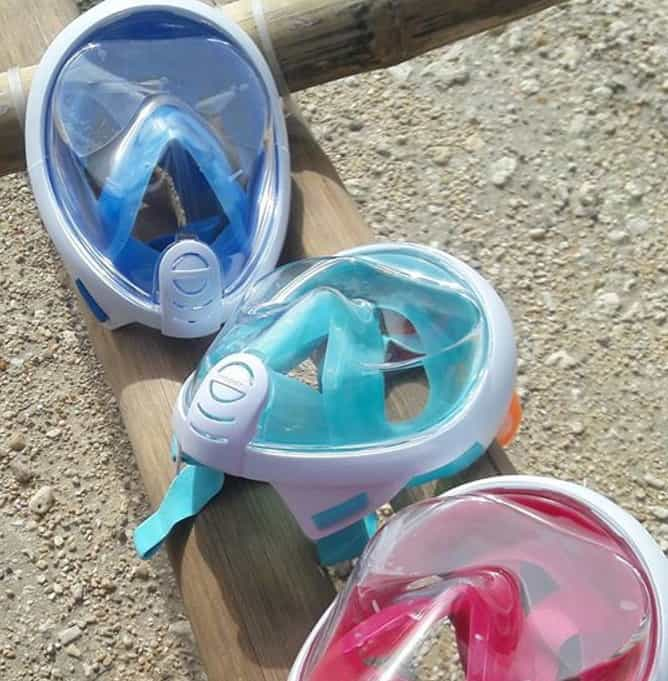 DIfferent colors for the Subea Easybreath - Should you have a closer look at full face snorkelling masks?