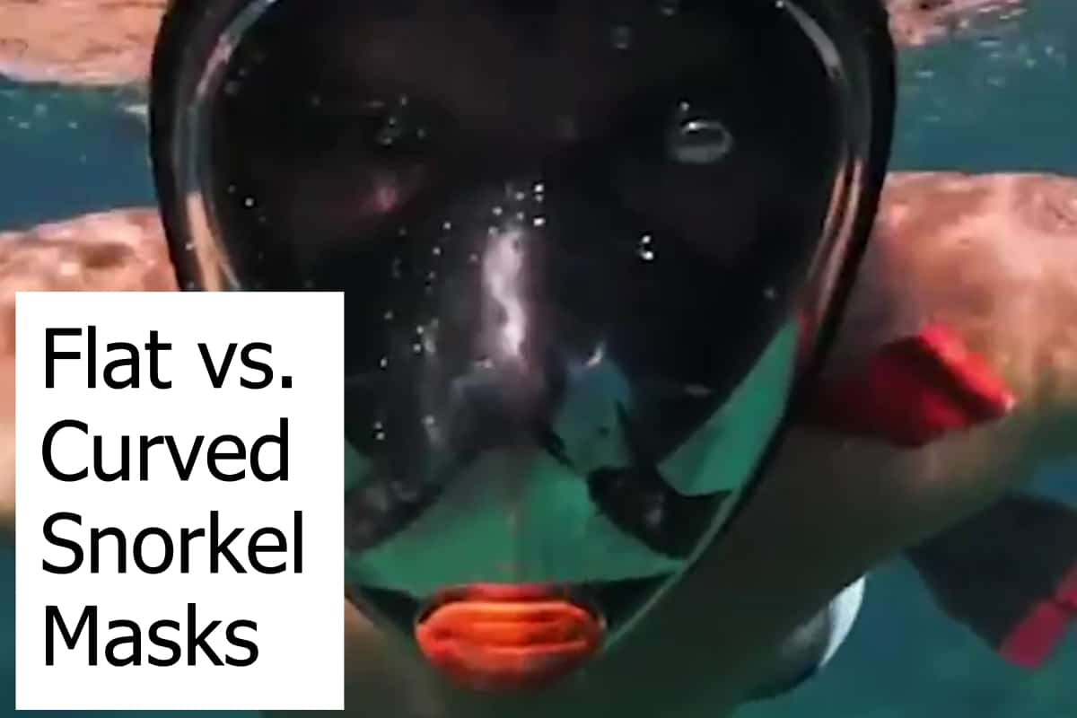 Comparing curved and flat snorkel masks - Which is better?