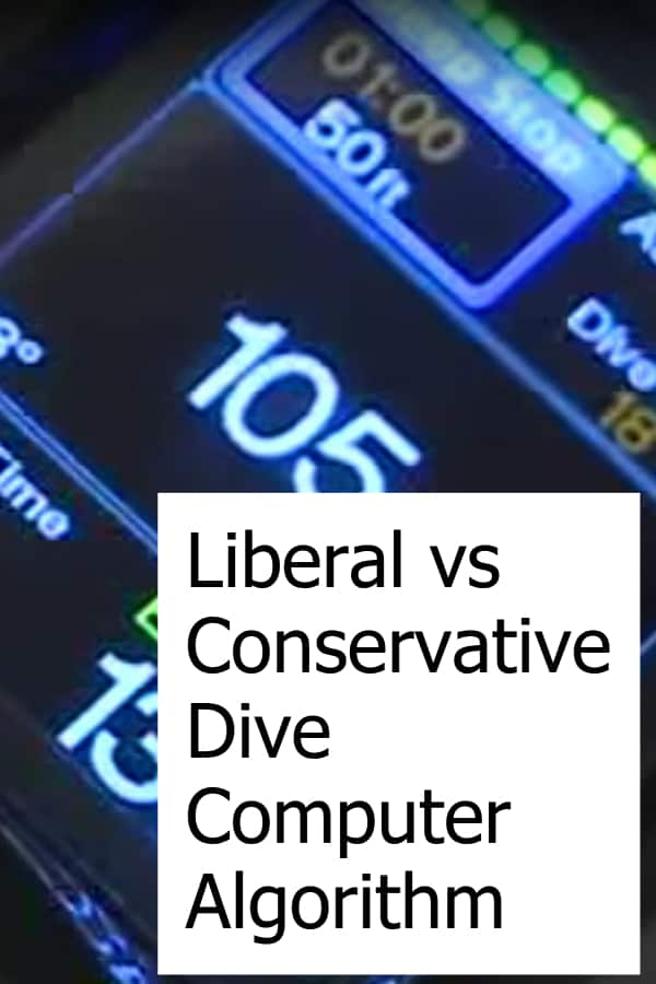 Scuba Diving Computers have different algorithms depending on each manufacturer. There are conservative and liberal ones. Is one kind better than the other?
