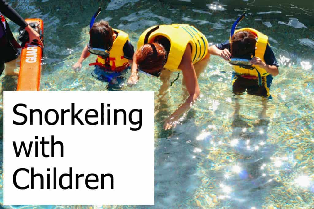 Taking your children snorkeling makes it a fun activity for the whole family!